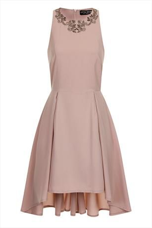 Just had to pin this Little Mistress Mink Embellished Neck Dress from www.vestryonline.com/