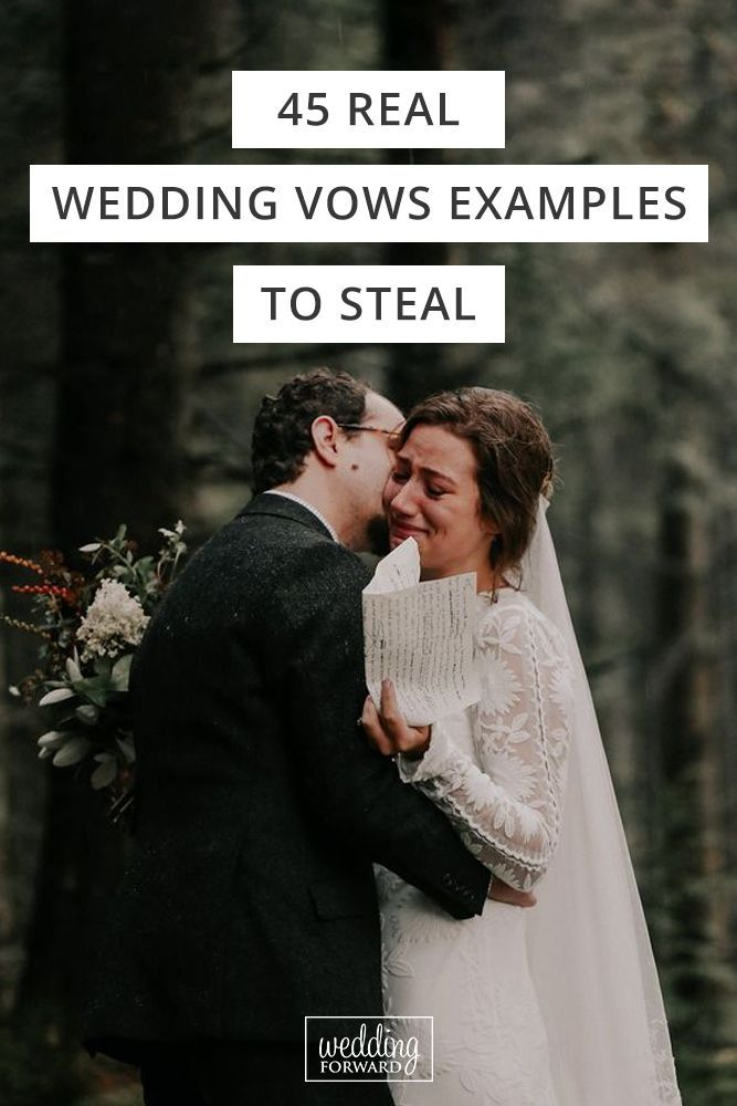 45 Real Wedding Vows Examples To Steal