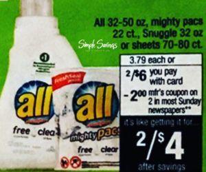 $1.00 All Laundry Detergent CVS (starting 3.5.17) http://simplesavingsforatlmoms.net/2017/03/1-00-all-laundry-detergent-cvs-starting-3-5-17.html