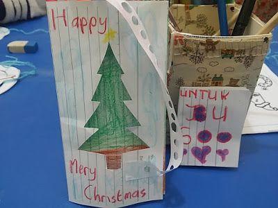 untuk anakanak sekolah minggu: kartu Hari Natal dari Anak anak