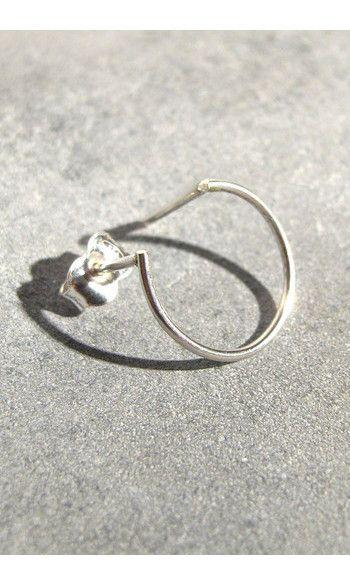 Sansoeurs boucle solo Circle argent----------#sansoeurs #earring #boucle #argent #silver #circle
