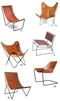 """Envie d'un fauteuil safari ou """"Sling chair"""" en cuir"""