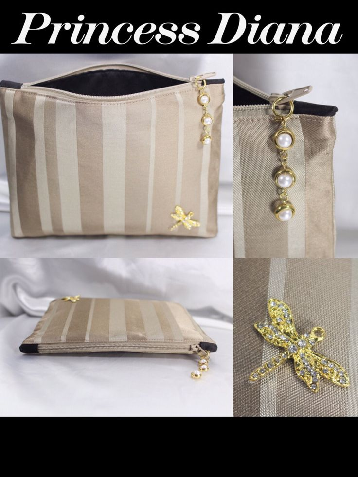Princess Diana Clutch/Purse/Bag/Pouch/Cosmetic/Black/BIRTHDAY Gift/Posh/Gold/ Gifts for her size 7.5x5.5 handmade by R. MarcellCollections by RMarcellCollections on Etsy