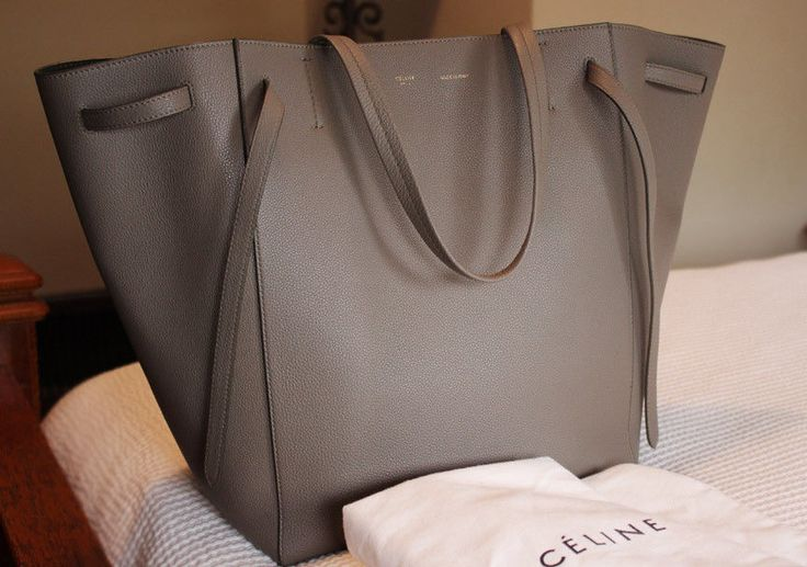 NEW! ~ CELINE ~ Phantom Cabas Large TOTE Taupe Spring 2014 w/ TAGS Authentic NWT