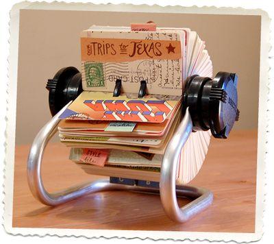 Cool scrapbookScrapbook Ideas, Rolodex Scrapbook, Art Journals, Minis Scrapbook, Mini Scrapbooks, Flip Book, Diy, Crafts, Vintage Cards