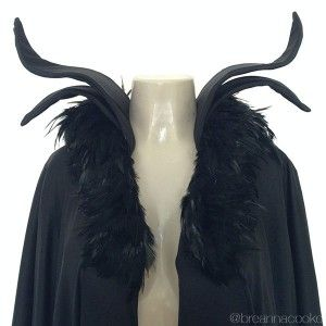 Feather trim at Michaels or HL. Foam for smaller collar? Robe is just polyester.
