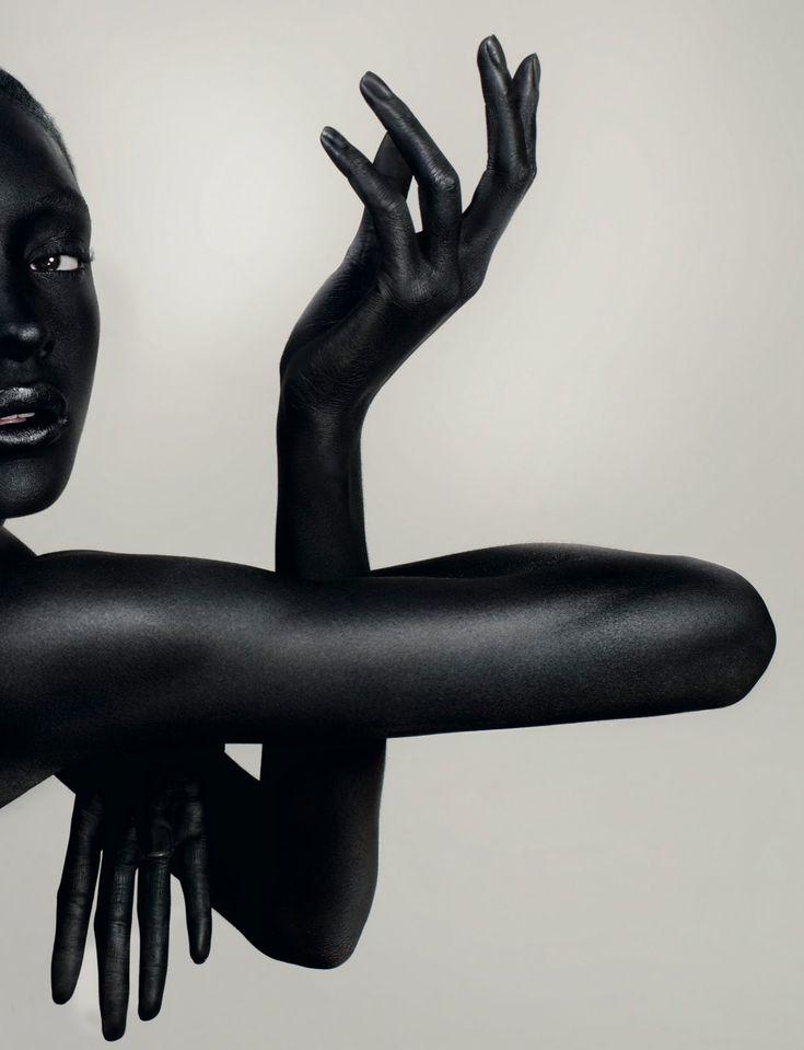 skin: black black: model Jourdan Dunn 01 by David Slijper for Dazed & Confused 2008-03 (via IIIINSPIRED 2010-09)