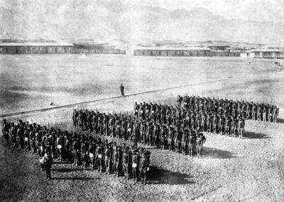 Batallón Cívico de Artillería Naval en Antofagasta en el año 1879