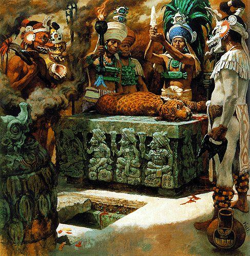 Los sacrificios de animales    En ofrenda a los dioses era muy habitual llevar a cabo el sacrificio de los animales. En todos los casos, la sangre de los animales sacrificados se ofrecía ritualmente a los dioses.  De todos modos, la ofrenda de sangre humana era la mejor garantía para aplacar las cóleras divinas y evitar el castigo celestial.