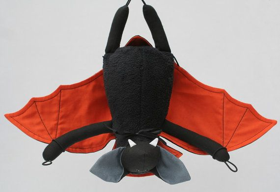 Vampire Bat for Halloween stuffed toy plush animal от andreavida