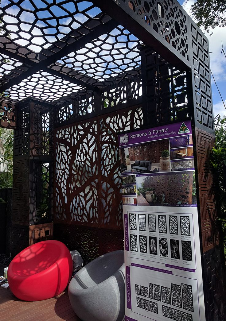 From the 2017 Melbourne International Flower and Garden Show at Carlton Gardens. QAQ Decorative Screens & Panels sponsored Water Features Direct and FMSA Architecture.