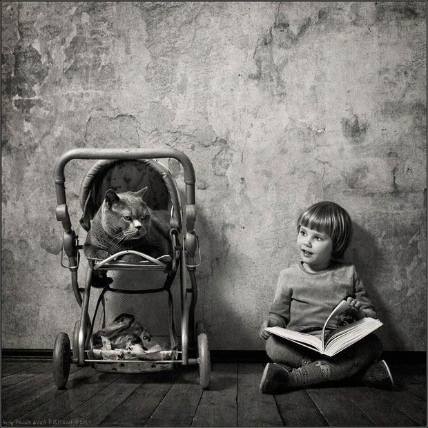Andy Prokh (Andrey Prohorov)photographené dans une petite bourgade de Russie en 1963. Economiste de métier il se découvre une véritable passion pour la photographie et passe ces 7 dernières années a travailler sa techniquephotographique.Prokh a finalement trouvé son sujet favori en créant cettesérie photo avec safilleKatherine 4 ans et son ...