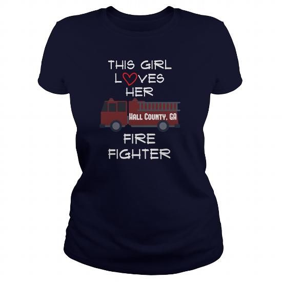 Hall County GA Fire Fighter Shirt for Women T-Shirts, Hoodies (19$ ==► Order Here!)