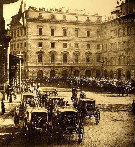 Roma Sparita - Piazza Montecitorio 1887