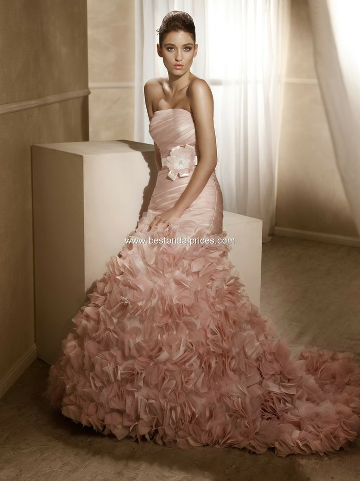 Lovely Wedding Dresses With Pink