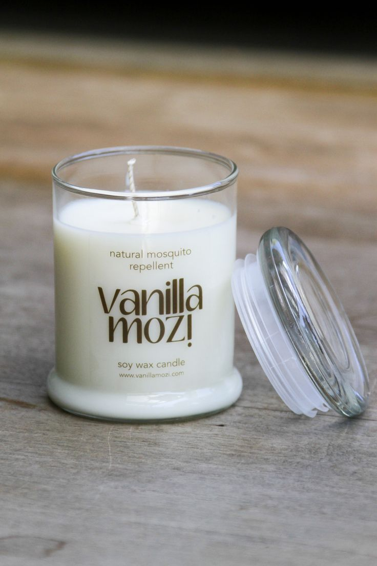 Large Vanilla Mozi Candle. Perfect indoors or out.