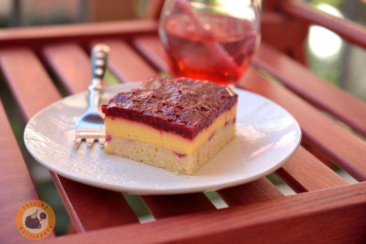 Raspberry & mango mousse dessert