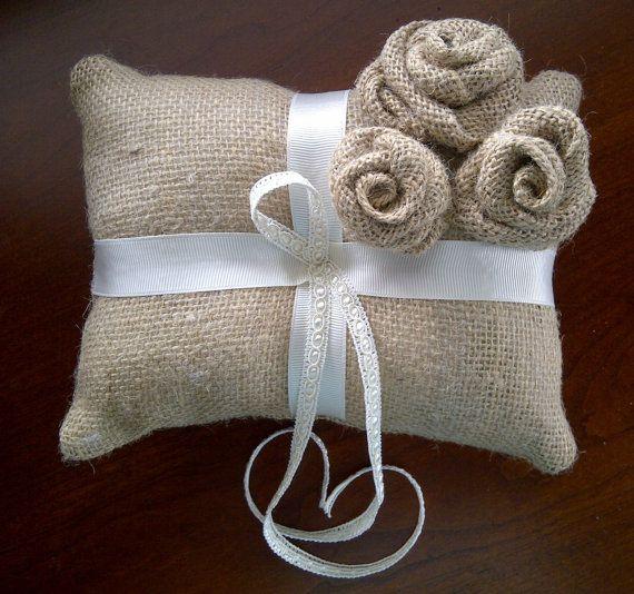 Rustic Ring Bearer Pillow.....