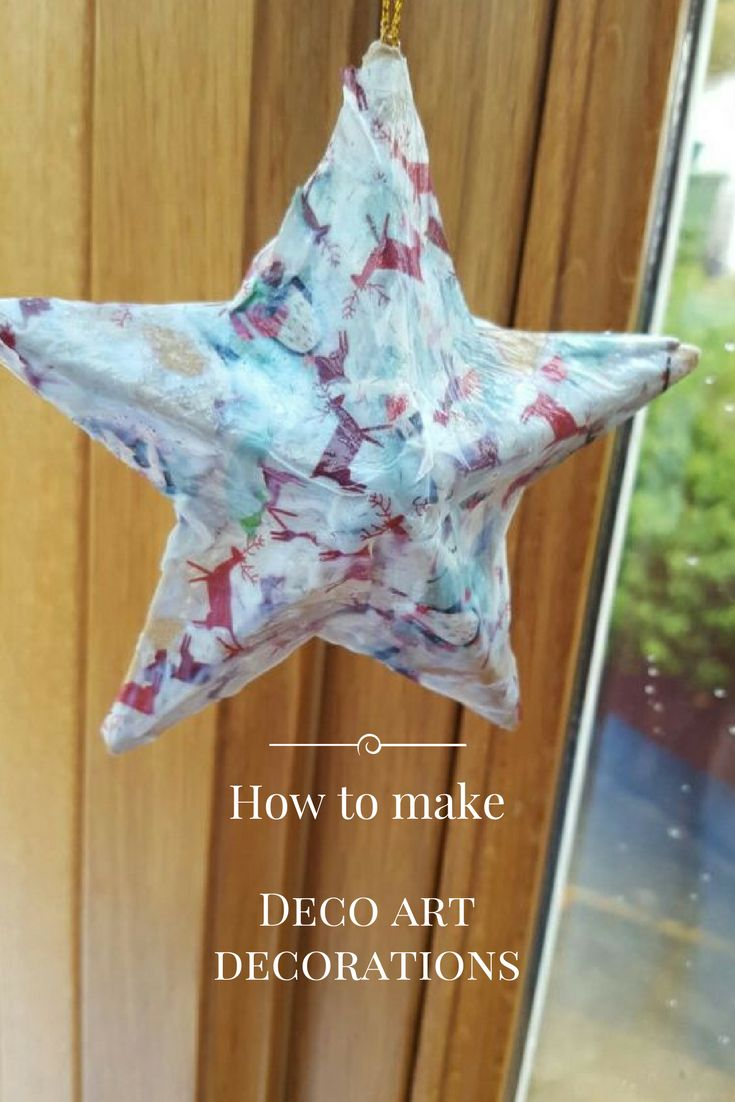 To find out how we made these wonderful star deco art decorations please take a look at my blog. The blog will also tell you where to buy the appropriate materials for this paper mache children's activity. This activity is also perfect for Christmas!