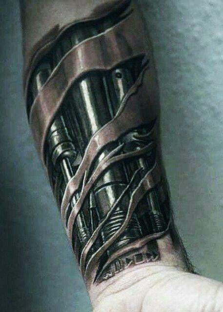 Mechanism, tattoo art Mais