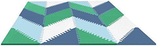 Skip Hop Playspot Geo Foam Floor Tiles, Blue/Green