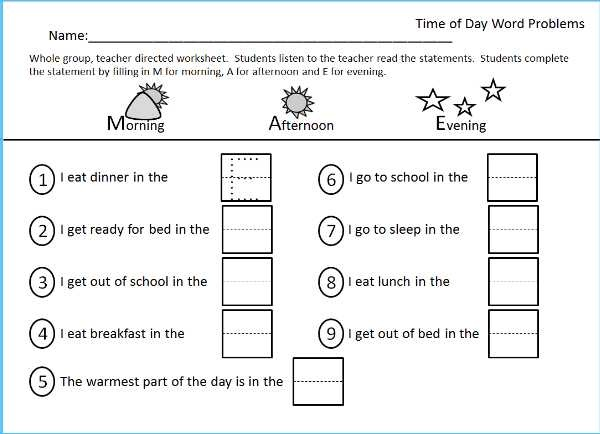 Worksheet For Morning Afternoon Evening Part Of The Time Packet Located At Kindergarten Worksheets Kindergarten Worksheets Printable Kindergarten Math Games