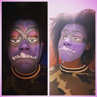 11358964_997461450265451_1565386961_n.jpg (320×320) purple minion makeup face paint