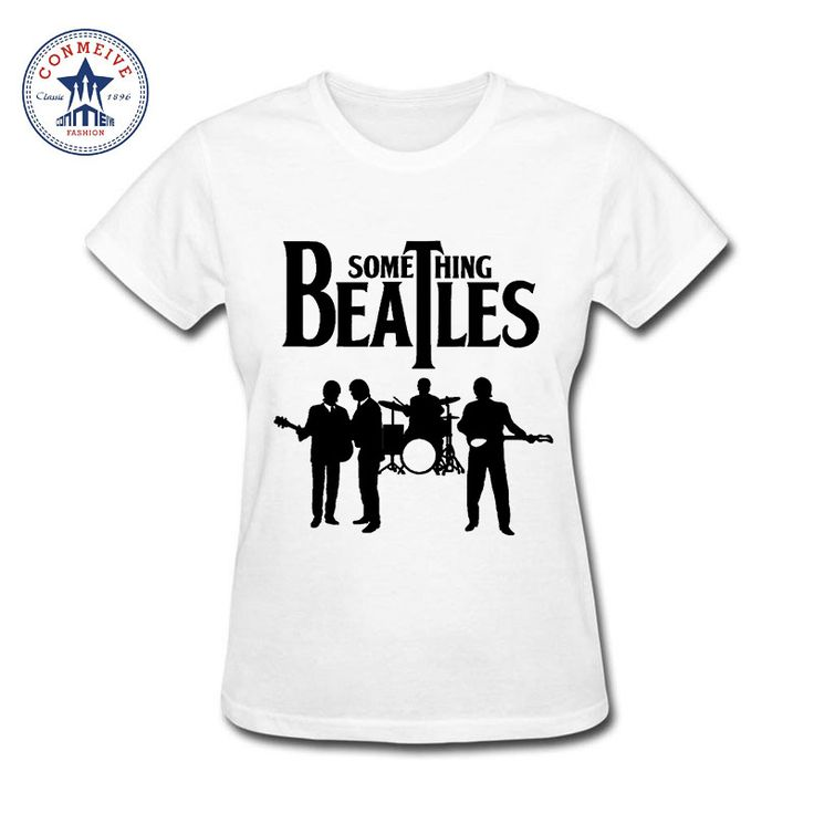 2017 Best Gift For Friend Something The Beatles Funny Cotton funny t shirt women #Affiliate