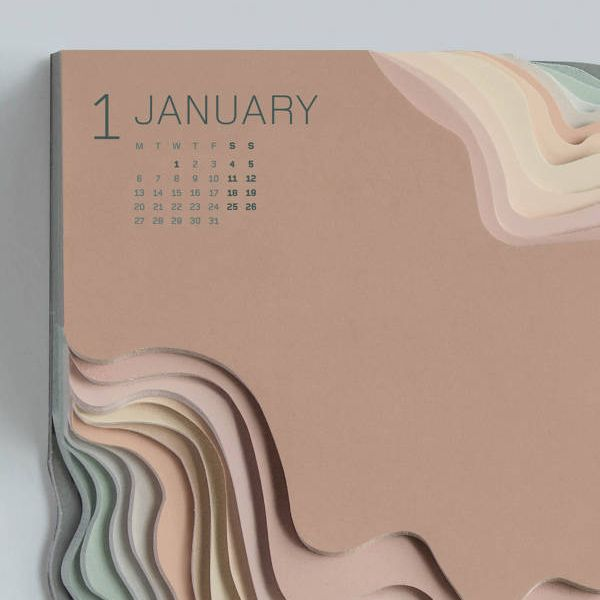 Land Rover Topographic Calendar by Zeynep Orbay