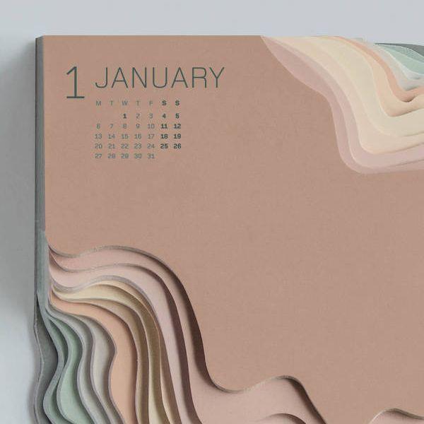 Land Rover Topographic Calendar by Zeynep Orbay