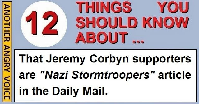 """The millionaire Labour Party donor Michael Foster has written an appalling diatribe for the Daily Mail entitled """"Why """"I despise Jeremy Corbyn and his Nazi stormtroopers"""" in which he bitterly criticises Jeremy Corbyn and smears the people who support him as Nazi stormtroopers (Sturmabteilung).  The Daily Mail!  The first thing to note is that of all of the newspapers to submit such a diatribe to, the Daily Mail is clearly incredibly inappropriate given their support for Hitler and Nazism in…"""