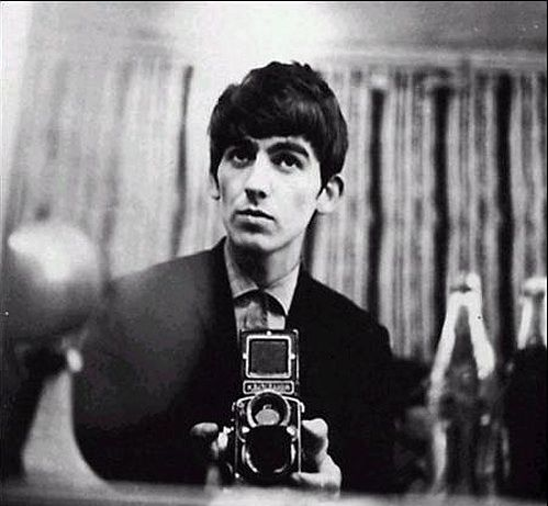 George Harrison with a Rolleiflex