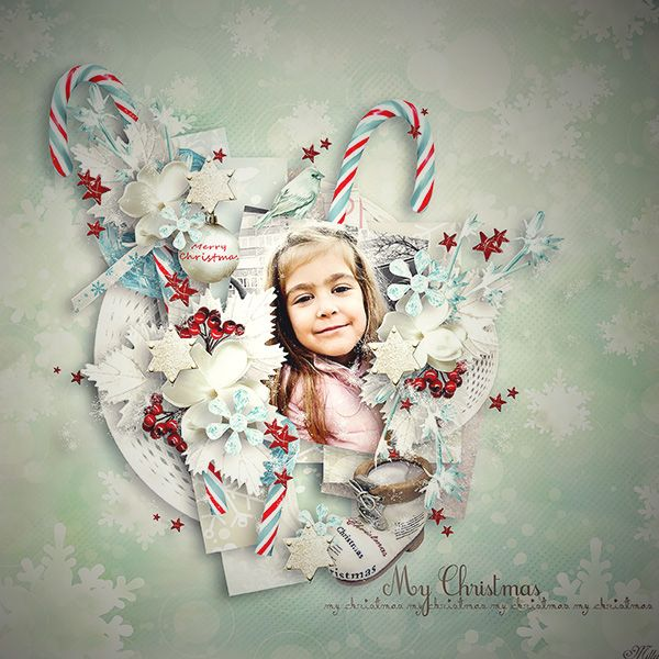 Melody of Christmas by Delph Designs template november freebie by Tinci Designs