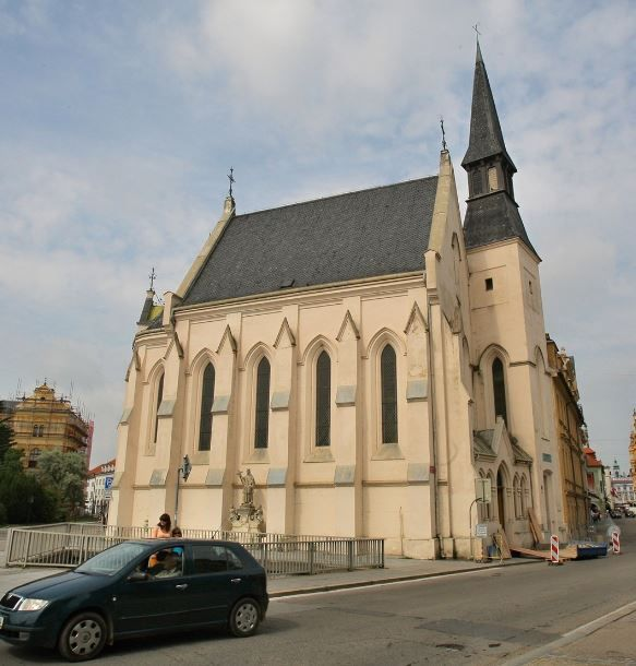 The church of the Holy Family in České Budějovice, Czechia #church #city…