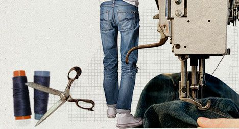 Nudie Jeans co   100%, organic, also focus on repair/reuse/recycle, have repair shops (e.g., Berlin, London, Götenborg, Japan, not yet NL), production process info   member   member of: Fair Wear and Textile Exchange