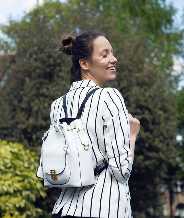 Colour is everything, Black and White is more! 🐼  Stepping out in the Mahiki bag as a backpack! Available Online Today! #florianlondon #florianlondonuk #black&white #monochrome #style shot by @kiniaainik