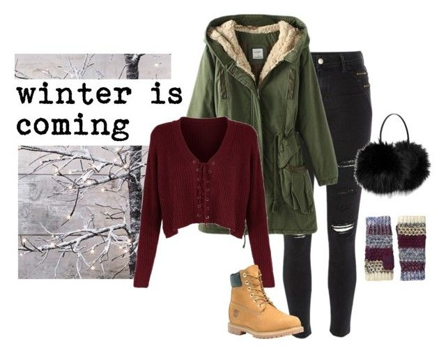 """winter is coming"" by bbriii on Polyvore featuring River Island, Timberland, Roxy and Betsey Johnson"