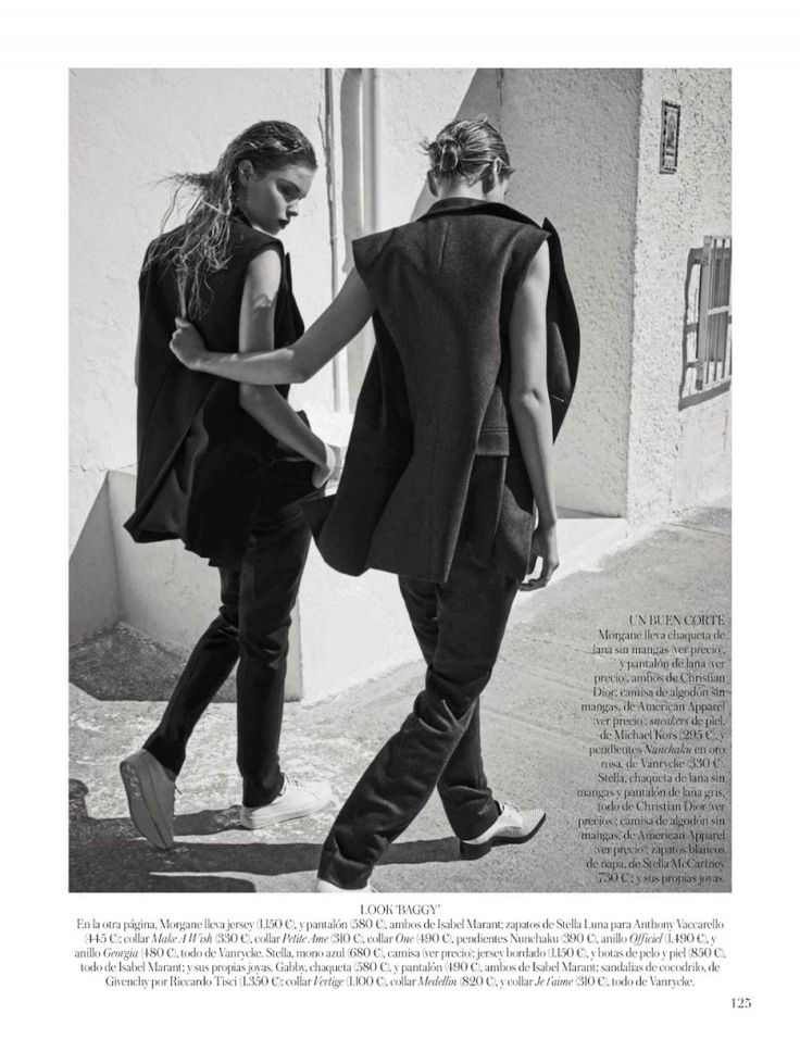 Stella, Gabby + Morgane Model Masculine Fashions for Vogue Spain by Mariano Vivanco