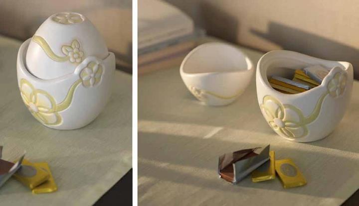 Linea Primavera 2012  La praliniera consiste di due vasetti uno dentro l'altro che si possono usare anche separati.