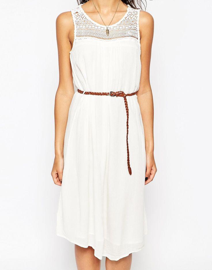Bild 3 von Only – Ärmelloses Sommerkleid mit Gürtel