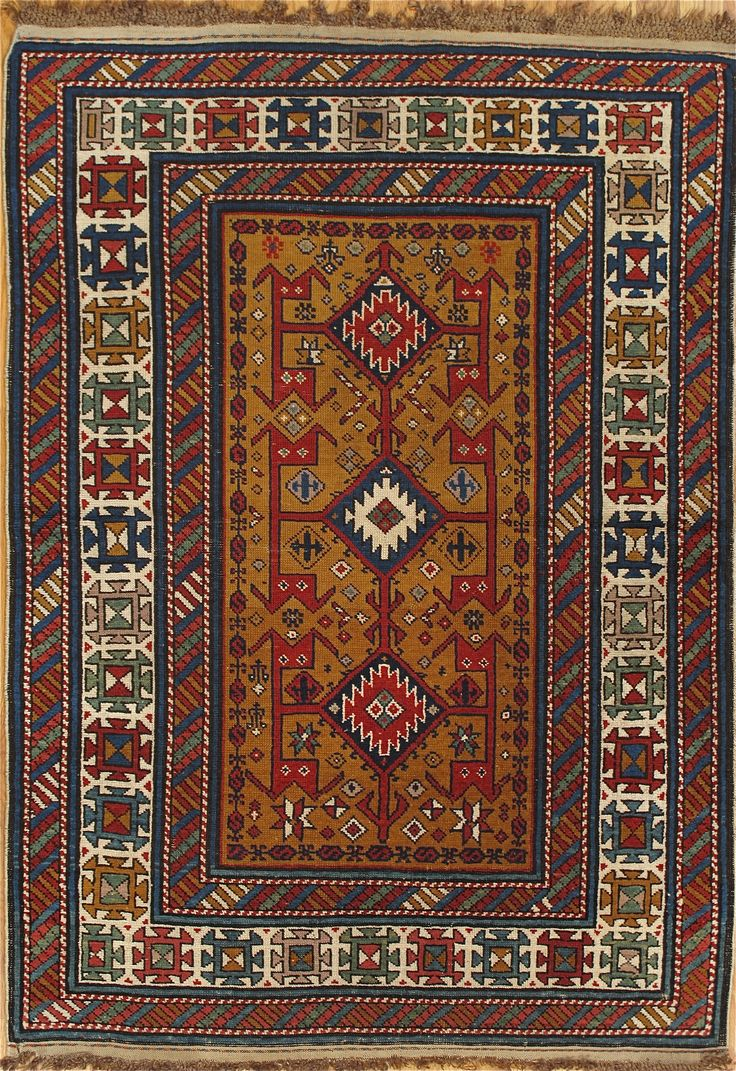 Shirvan Rug From Eastern Caucasus Age Circa 1880 Size 4 5