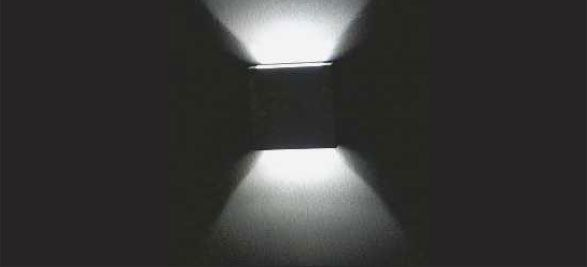 LED Square Wall Light   Model:L7.02.102   with Transformer, Alum. Price:Rs1449