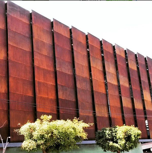 Metal Effects Rust Finish On Building Exterior Project