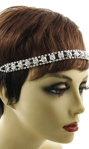 'RONI' CRYSTAL STRETCH HEADBAND HEADPIECE