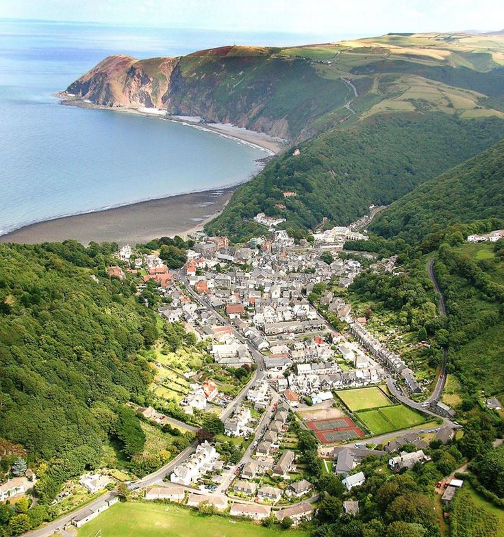 Lynton and Lynmouth. North Devon. England.                                                                                                                                                                                 More