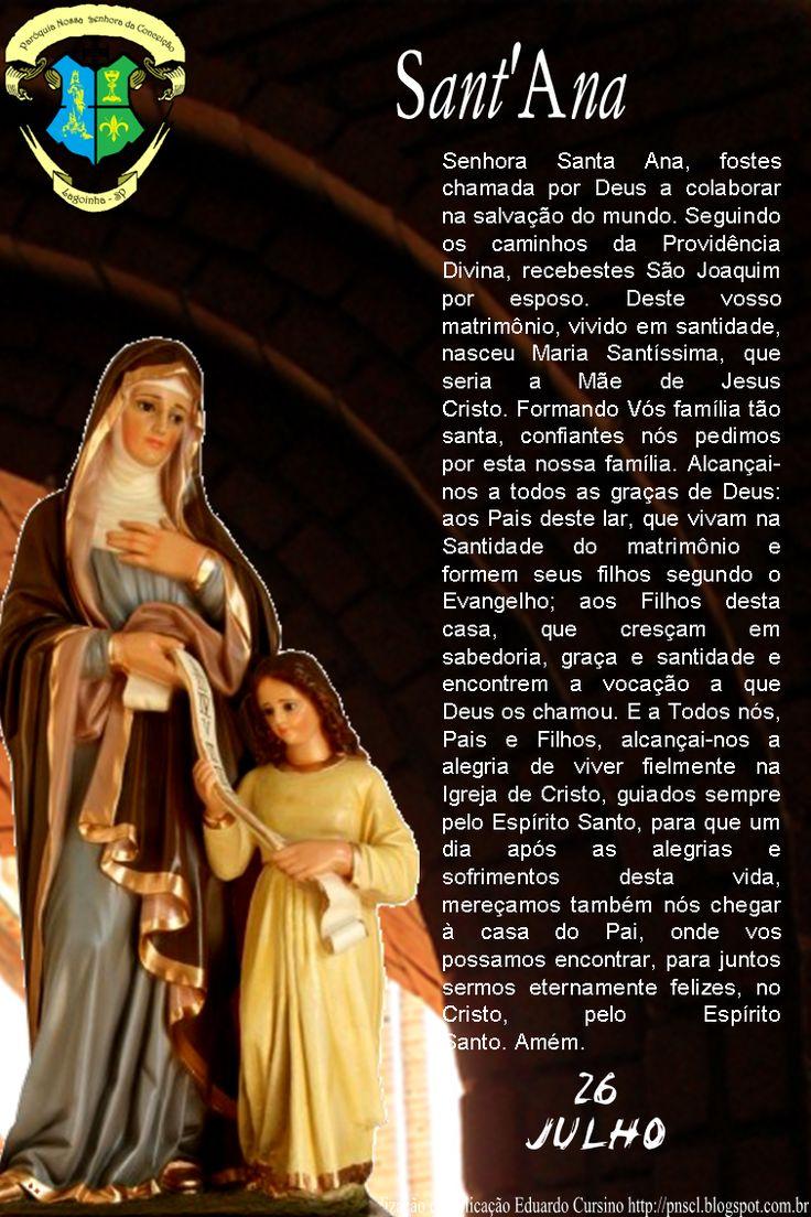 Paróquia Nossa Senhora da Conceição de Lagoinha – SP: ORAÇÃO A SANT'ANA