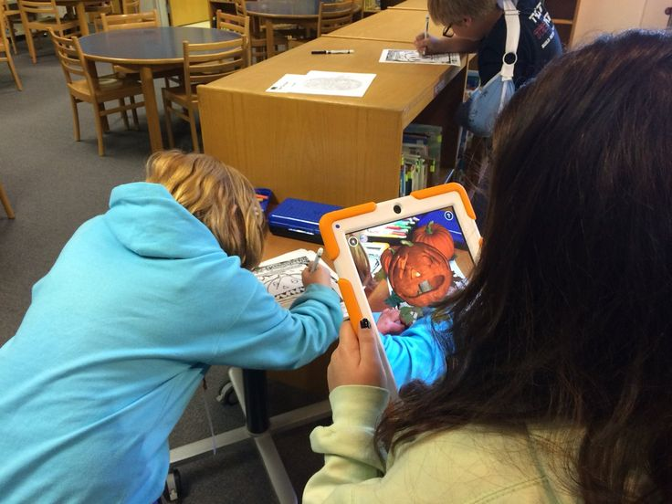 """Tiffany Ray on Twitter: """"Coloring sheets just got an upgrade at the POCES library...augmented reality jack-o-lanterns #quivervision #PocaPreK5 https://t.co/3ifvskYx3u"""""""