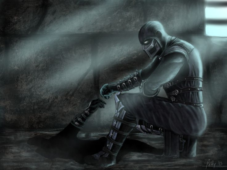 Noob Saibot - MK9 by *LetticiaMaer on deviantART awesome.