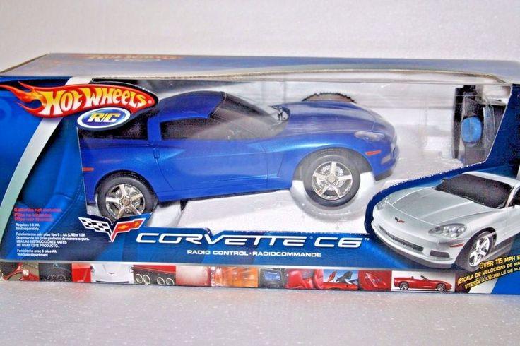 Hot Wheels Corvette Radio Controlled C6 Blue Car Mattel Toy