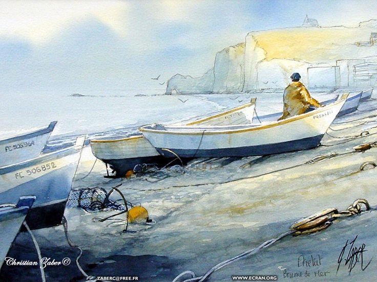 fonds d écran Peinture - Aquarelles de Christian Zaber - La Normandie en fond d'écran & en couleur - de Christian Zaber